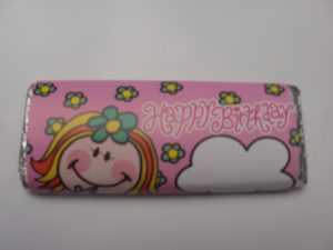 Girl Birthday Chocolate Bar